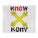 KNOW KONY Throw Blanket