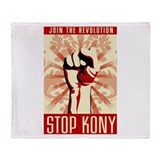 STOP KONY Throw Blanket