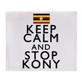 Stay Calm and Stop Kony Throw Blanket