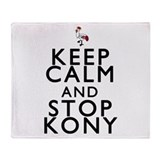 Keep Calm and Stop Kony Throw Blanket