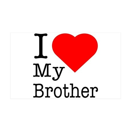 I Love My Brother 38.5 x 24.5 Wall Peel
