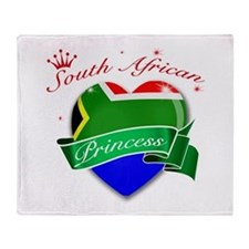 South African Princess Throw Blanket