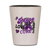 Peace Love Cure 2 Epilepsy Shot Glass