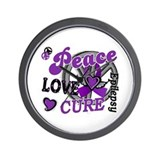 Peace Love Cure 2 Epilepsy Wall Clock
