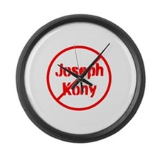 Stop Joseph Kony Large Wall Clock