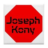 Stop Sign Joseph Kony Tile Coaster