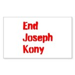 End Joseph Kony Sticker (Rectangle 50 pk)
