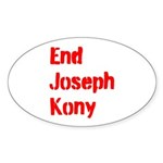 End Joseph Kony Sticker (Oval 10 pk)