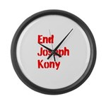 End Joseph Kony Large Wall Clock