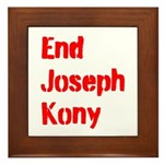 End Joseph Kony Framed Tile