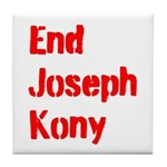 End Joseph Kony Tile Coaster