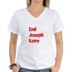 End Joseph Kony Women's V-Neck T-Shirt