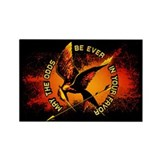 Grunge Hunger Games Rectangle Magnet