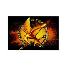 Hunger Games Grunge Rectangle Magnet