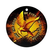 Hunger Games Grunge Ornament (Round)