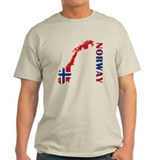Map Of Norway T-Shirt