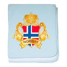Gold Norway baby blanket