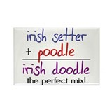 Irish Doodle PERFECT MIX Rectangle Magnet