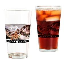 """""""God & Zeus"""" Drinking Glass"""