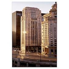 Skyscrapers in a city, Michigan Avenue, Wacker Dri