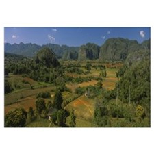 High angle view of a landscape, Valle De Vinales,