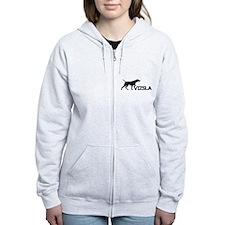 Women's Vizsla Zip Hoodie (silhouette)