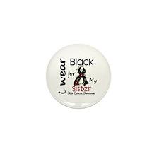 I Wear Black 43 Skin Cancer Mini Button (100 pack)