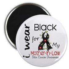 """I Wear Black 43 Skin Cancer 2.25"""" Magnet (100 pack"""