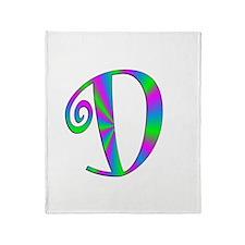 D Monogram Throw Blanket