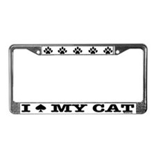 I Spade My Cat License Plate Frame