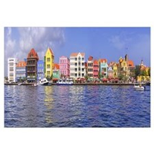 Buildings at the waterfront, Willemstad, Curacao,