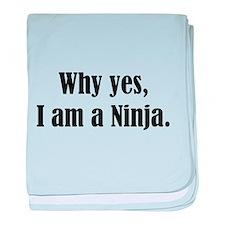 Why yes, I am a Ninja baby blanket