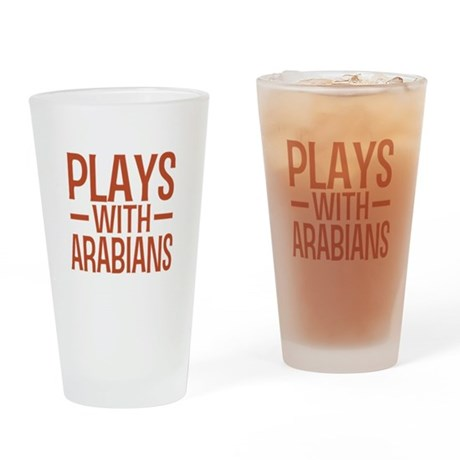 PLAYS Arabians Drinking Glass