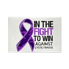 In The Fight Cystic Fibrosis Rectangle Magnet (100
