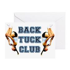 Back Tuck gymnast Greeting Card