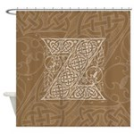 Celtic Letter Z Shower Curtain