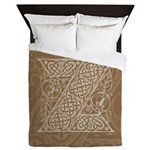 Celtic Letter Z Queen Duvet Cover