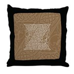 Celtic Letter Z Throw Pillow