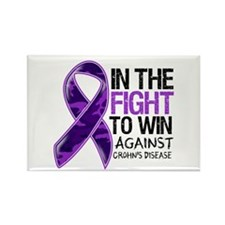 In The Fight Crohn's Disease Rectangle Magnet (100