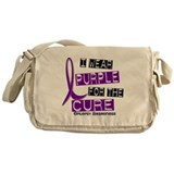 I Wear Purple 37 Epilepsy Messenger Bag