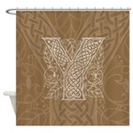 Celtic Letter Y Shower Curtain
