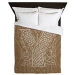 Celtic Letter Y Queen Duvet Cover