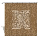 Celtic Letter X Shower Curtain