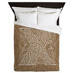 Celtic Letter X Queen Duvet Cover