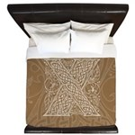 Celtic Letter X King Duvet Cover