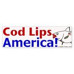 Cod Lips America Bumper Sticker