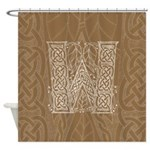 Celtic Letter W Shower Curtain