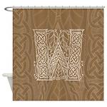 Celtic Letter W Shower Curtain