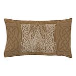 Celtic Letter W Pillow Case
