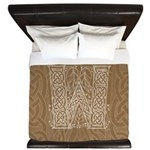 Celtic Letter W King Duvet Cover